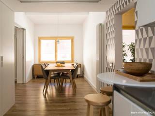REQUETEFALLA LOCA Studio Comedores de estilo escandinavo Madera Blanco