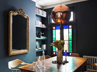 London Town House Frank and Faber Eclectic style dining room