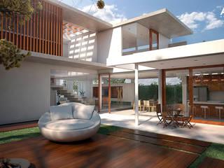 Casa Gandhi Varandas, alpendres e terraços modernos por ARC+ Arquitetura Moderno