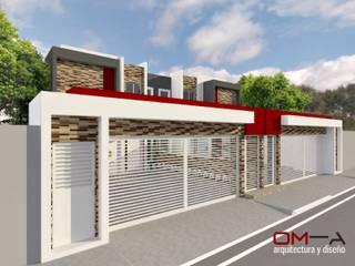 DISEÑO DE VIVIENDA PAREADA om-a arquitectura y diseño Casas de estilo minimalista