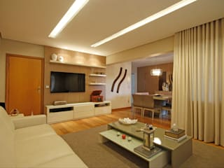 Jacqueline Ortega Design de Ambientes ห้องนั่งเล่น