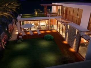 Casa Green Hills Varandas, alpendres e terraços modernos por ARC+ Arquitetura Moderno