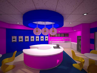 Bahamas island - Sweetz ice cream parlor and snacks bar:   by VINCA interiors