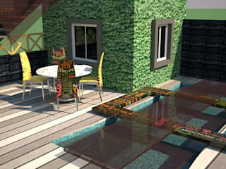 pool area :   by VINCA interiors