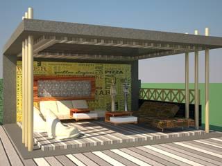 Open air restaurant :   by VINCA interiors