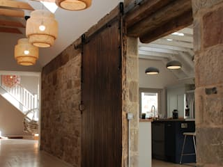 Saltcoats Steading Rustic style corridor, hallway & stairs by Aitken Turnbull Architects Rustic