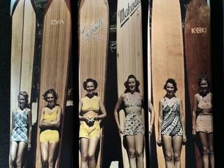 """Triptyque """"Les surfeuses"""" skateboards:  de style  par LILIBOARD"""