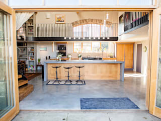Rustic industrial style kitchen:  Kitchen by Love Wood Kitchens