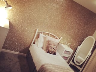 Glitter Wallpaper The Best Wallpaper Place - Walls & flooringWallpaper Tekstil Amber/Gold