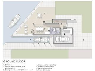 Ground Floor Plan de Artform Architects Escandinavo