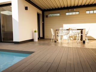 Patio de type Riad avec lame de Terrasse Terrain Balcon, Veranda & Terrasse méditerranéens par TimberTech Méditerranéen