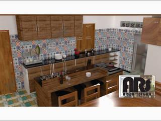 Cozinha de casa com cara de fazenda!: Cozinhas  por ARS CONSULTORIA EM ARQUITETURA E REFORMA SUSTENTÁVEL
