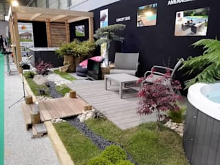 Foire de nantes 2016 Balcon, Veranda & Terrasse modernes par TimberTech Moderne