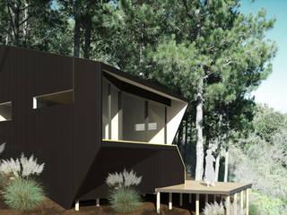 Casa Del Pedregal: Casas de estilo  por DAIBER & ACEITUNO Arquitectos