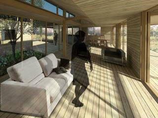 Casa Patio Livings modernos: Ideas, imágenes y decoración de DAIBER & ACEITUNO Arquitectos Moderno