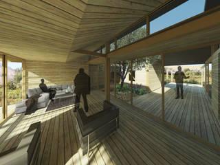 Casa Patio: Livings de estilo moderno por DAIBER & ACEITUNO Arquitectos