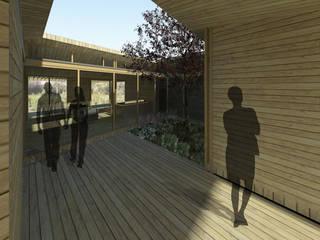 Casa Patio: Casas de estilo  por DAIBER & ACEITUNO Arquitectos