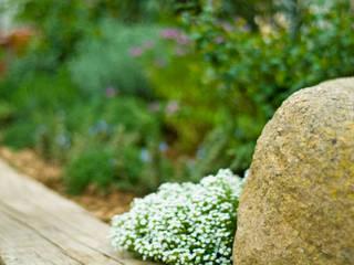 Jardín Rústico con toque chic en Extremadura Landscapers Jardines de estilo mediterráneo Madera Verde