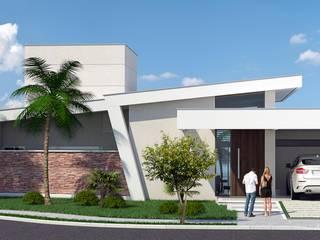 Projeto arquitetônico para residência : Casas  por Fernando Parreira Arquitetura