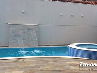 Projeto para área de lazer residencial Piscinas modernas por Fernando Parreira Arquitetura Moderno