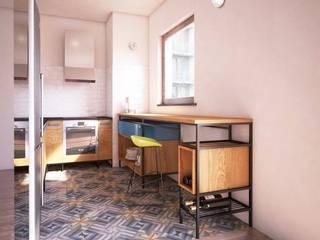 Loftowa' mikro-kuchnia od SH-Studio Szadkowski i Henschke s.c.