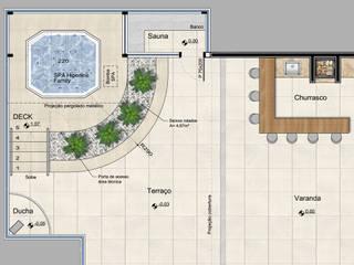 Projeto para sauna e SPA em cobertura de prédio residencial Spa moderno por Fernando Parreira Arquitetura Moderno