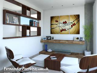 Proposta para Sala de leitura em residência Salas de estar modernas por Fernando Parreira Arquitetura Moderno