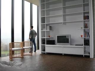 Woonhuis Graaf - Nicolaije Moderne woonkamers van bv Mathieu Bruls architect Modern