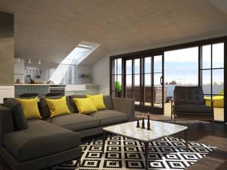 Salas de estilo escandinavo de yücel partners Escandinavo