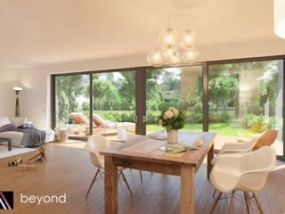 Modern Living Room by beyond REALITY | Architekturvisualisierung Modern
