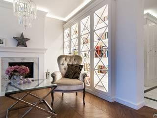 Biblioteka indywidualnego projektu: styl , w kategorii Salon zaprojektowany przez Atelier Architektury Magdalena Potok