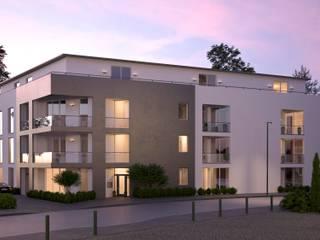 Visualisierung Mehrfamilienhaus bei Düsseldorf:   von beyond REALITY | Architekturvisualisierung