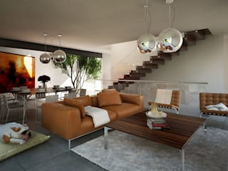 CASA LAB: Salas de estilo  por ORTHER Architects