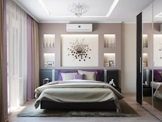 Tatiana Zaitseva Design Studio의  침실