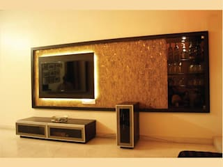 Best of Two Worlds...!!!:  Living room by Neha Changwani,Modern