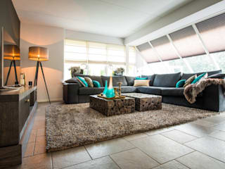 Living room by homify, Tropical Wood Wood effect