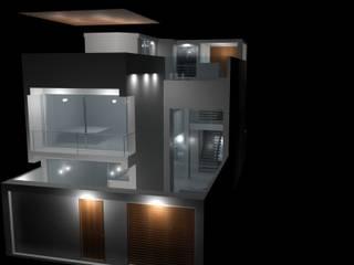 Casa 1 Pacasmayo Casas de estilo moderno de Interior + Exterior Moderno