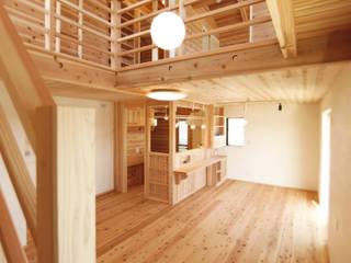 藍住町S様邸: 株式会社Ota建築設計が手掛けたリビングです。,