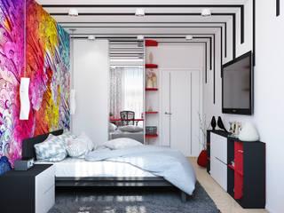 Квартира в ярких тонах: Спальни в . Автор – Tatiana Zaitseva Design Studio