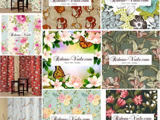 L'été aux fenêtres, la décoration d'intérieure fleurie avec les rideaux et tissus à fleurs:  de style  par Rideau-voile, Classique
