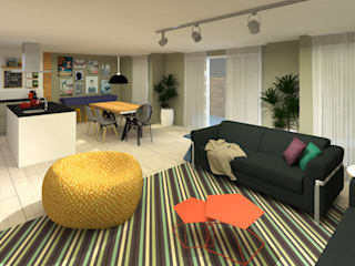 Living room by .Villa arquitetura e algo mais,