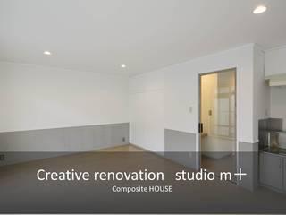 studio m+ by masato fujii ห้องนั่งเล่น Grey
