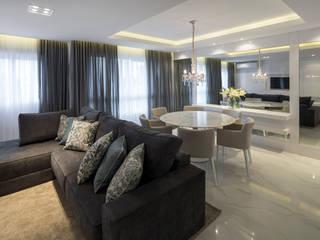 APARTAMENTO LD Salas de estar modernas por ARQUITETURA MB Moderno