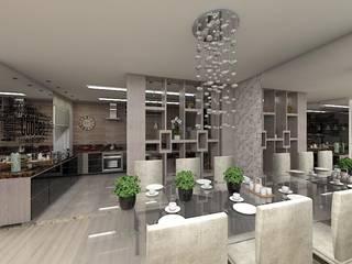 Reforma AL Salas de jantar ecléticas por Plano A Studio Eclético