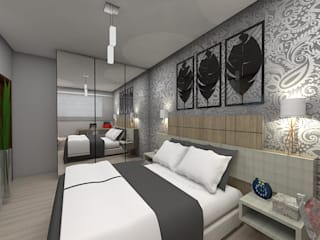 Eclectic style bedroom by Plano A Studio Eclectic