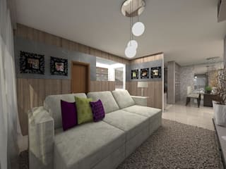 Salas / recibidores de estilo  por Plano A Studio