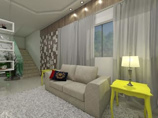 Eclectic style living room by Plano A Studio Eclectic