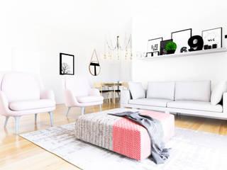 Apartamento Minimal: Salones de estilo escandinavo de Youdekor