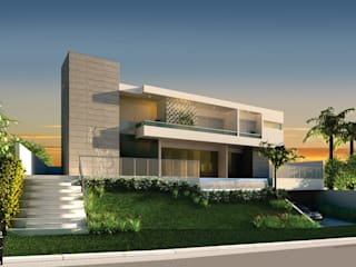 Modern houses by Queiti Magalhães Arquitetura e Decorações Modern