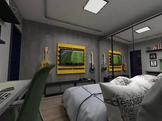 Reforma VR Quartos ecléticos por Plano A Studio Eclético
